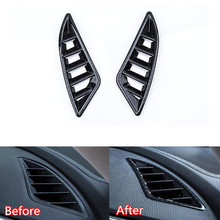 YAQUICKA For Mazda 6 Atenza 2017 2018 Carbon Fiber Style Car Interior Front Dashboard Air Outlet Vent Frame Cover Stickers