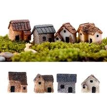 4 шт./компл. миниатюрный Садоводство пейзаж микро деревня драгоценный камень декоративные украшения из полимера для сада милый мини-орнамент