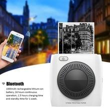 PAPERANG P2 карманный мини 58 мм портативный Bluetooth принтер Телефон фото беспроводное подключение HD термопринтер этикеток 1000 мАч батарея