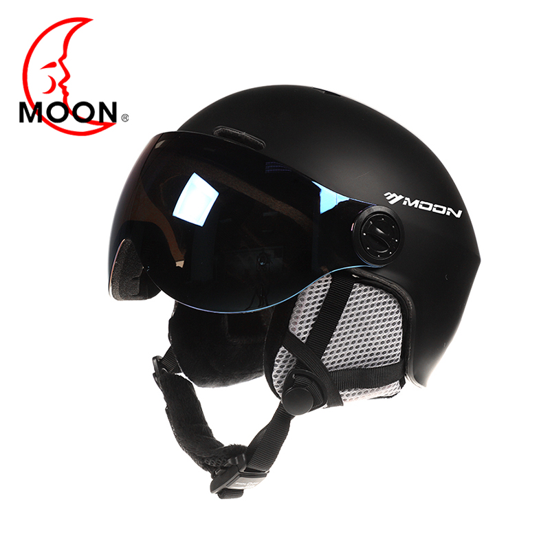 Moon Goggles Skiing Helmet Integrally-Molded PC+EPS CE Certificate Ski Helmet Outdoor Sports Ski Snowboard Skateboard Helmets rockbros pc eps skiing helmets ultralight integrally molded skating ski helmet snowboard thermal skateboard helmets sport safety