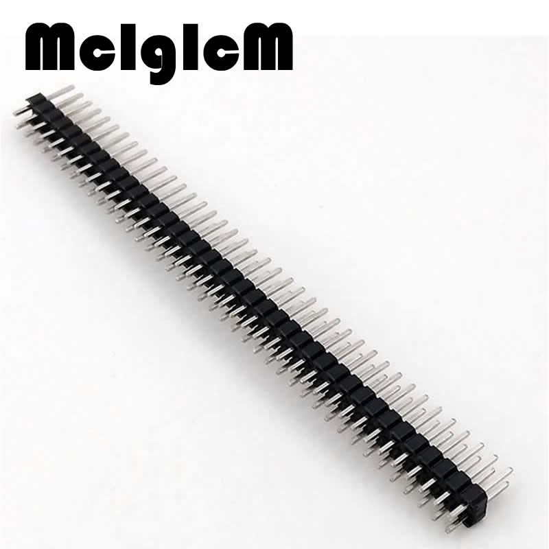 15pcs/lot 2.54mm connector pin header male double row 2*40 pin 80 pins Free Shipping 200pcs lot connector 2 54mm 40 pin male