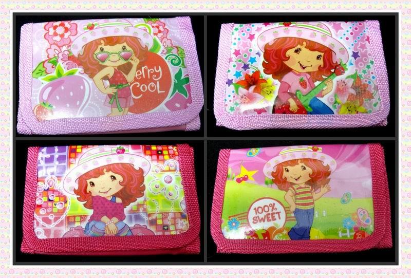 12Pcs Strawberry Girls Coin Purse Cute Kids Cartoon Wallet Kawaii Bag Pouch Children Purse Small Wallet Party Birthday Gift