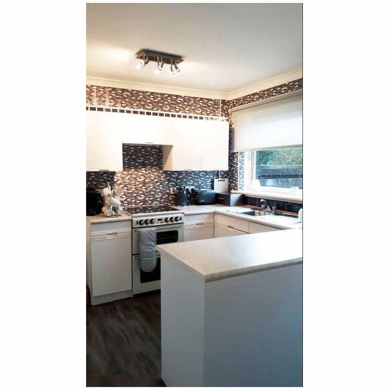 Free Shipping 3d Self Adhesive Waterproof Backsplash Tile Wallpaper Diy Kitchen Bathroom Home Kitchen Wall Sticker Stick Wallpaper Peel And Stick Wallpaper3d Wall Aliexpress
