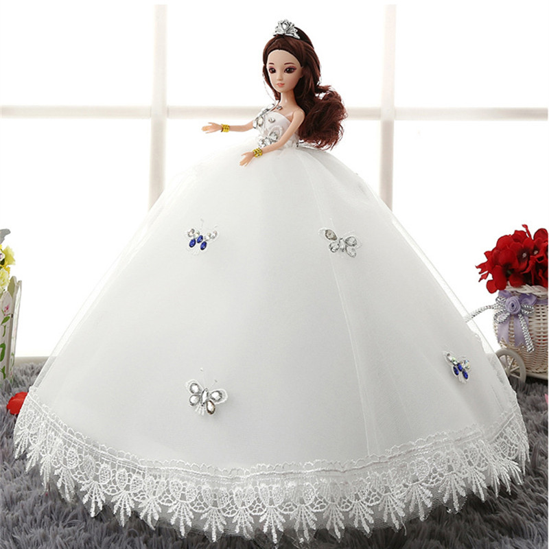 Moveable Joint Princess 3D Eye Baby Doll 46cm Design Wedding Fashion Dress Suite Kids Toy Girl Best Birthday Gift Free Shipping
