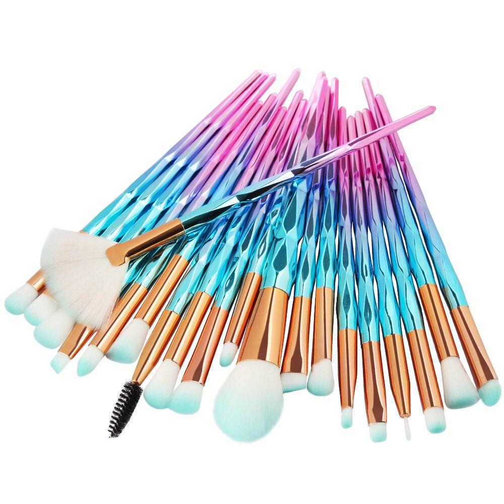 20pcs makeup brushes unicorn kit eyeshadow/eyebrow/blusher/powder/foundation brushes a803 27 цена