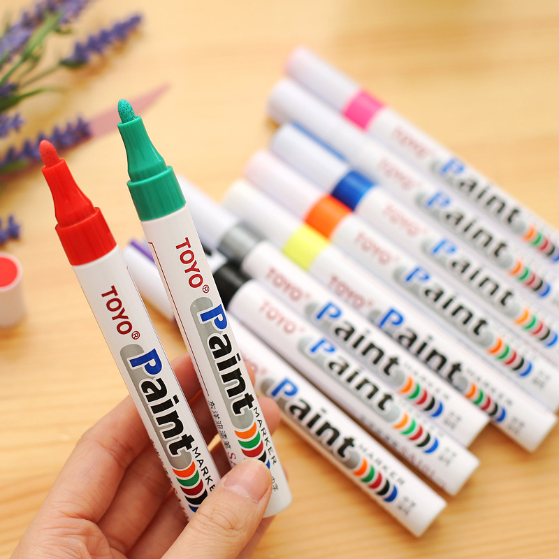 New Packing 10 Colors Toyo Sign Pen Multifunctional High Quality Paint Marker Pen Diy Album Graffti Pen Car Tyre Paint Marker Lovely Luster