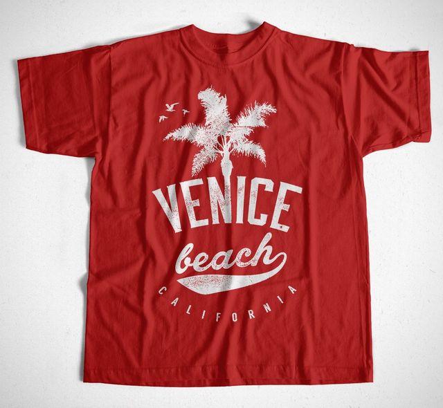 T Shirt 1527 S 4xl Venice Beach Palmen Strand Us Usa America Ny Cali