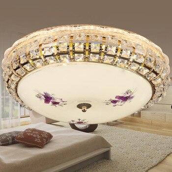 Modern simple atmosphere round bedroom lamp ceiling lamp LED bedroom study balcony lamp lighting decoration