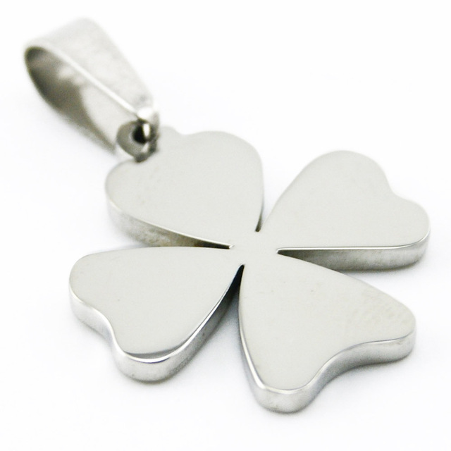 50pcs fashion diy jewelry burnish polished four leaf clover pendant 50pcs fashion diy jewelry burnish polished four leaf clover pendant stainless steel metal necklace for men mozeypictures Image collections