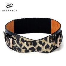 ab27a3373072 2016 nouveau large ceinture spot en gros dames de mode tout-allumette léopard  ceinture Dames