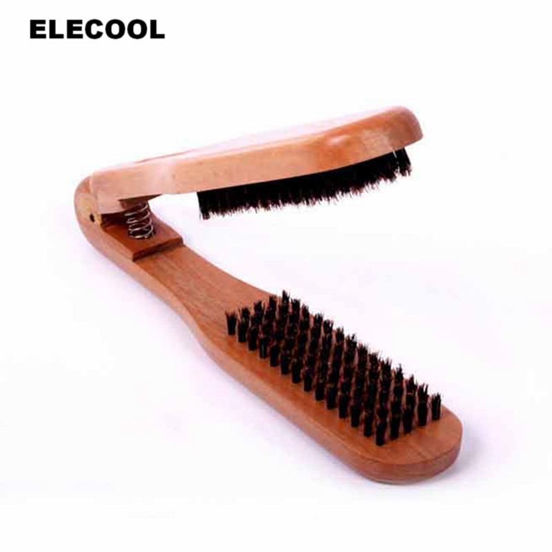 ELECOOL 1PC New Arrival Pocket Folding Hair Brush Comb Portable Collapsible Travel Head Skin Massage wood Hair Brush Tool