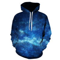 Street 3 D printed pullover with blue design, star fashion, casual polyester cotton men's hoodies Drop Ship ZOOTOP BEAR