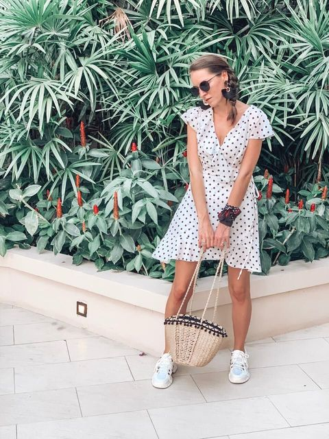 Mini Polka Dot Wrap Dress