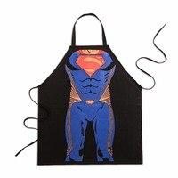 재미 참신 파티 슈퍼맨 앞치마 남성 여성 주방 요리 만화 앞치마 높은 품질 78 센치메터 * 66 센치메터 도매