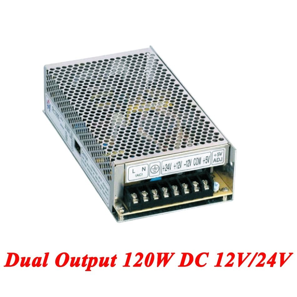 D-120C Switching Power Supply 120W 12V/24V,Double Output AC-DC Power Supply For Led Strip,transformer AC 110v/220v To DC 12v/24v led transformer 24v 60w ac dc power supply 110v 220v to 24v charger adapter for led strip led module light 3 year warranty