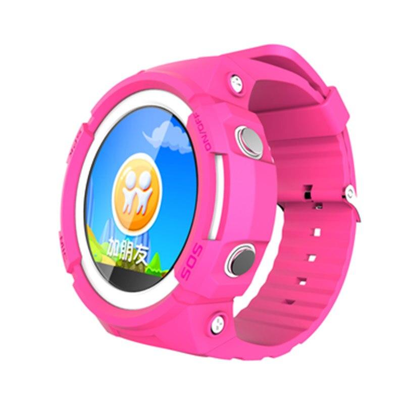 Traqueur intelligent de GPS d'enfant de montre avec l'écran rond Touchable traqueur de dispositif de localisation d'appel d'android SOS pour la montre sûre d'enfant pour l'enfant - 2