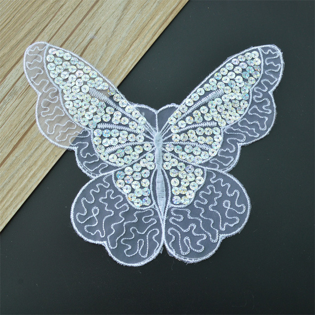 6fc1feeae Eugen yarn sequins fashion butterfly embroidered cloth paste personalized  summer decorative embroidery accessories without glue