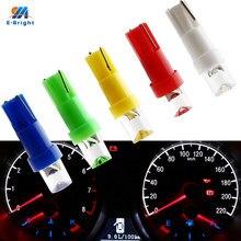 YM E-Bright 10X Янтарный синий зеленый красный белый T5 светодиодный Blbs клиновидная основа панели приборов вогнутая линза Предупреждение ющий инд...