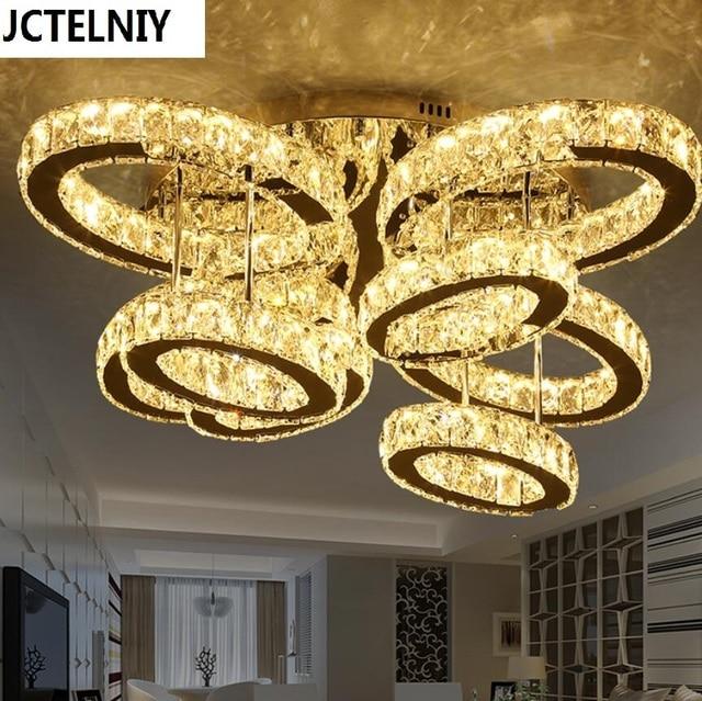 US $733.5 25% OFF|Wohnzimmer licht rechteckigen kreative atmosphäre oval  führte kristall lampe licht warmes schlafzimmer lampe led zu absorbieren ...