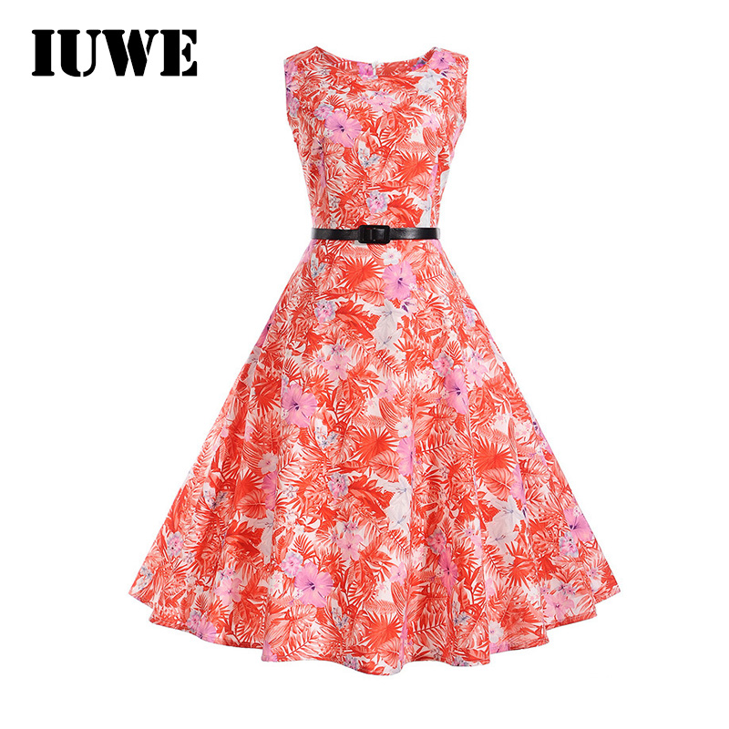 Girls Dresses Retro Floral Print Sleeveless Flower Kids Costumes Baby Girls Clothes Vintage 12 14 Dress Teenager Summer Clothing