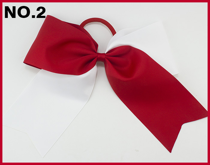 free shipping 30pcs 8 two tone cheerleading hair bows cheer hair clips two color sport hair