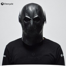 ФОТО the flash superhero masks movie cosplay halloween full head latex mask (black/red)