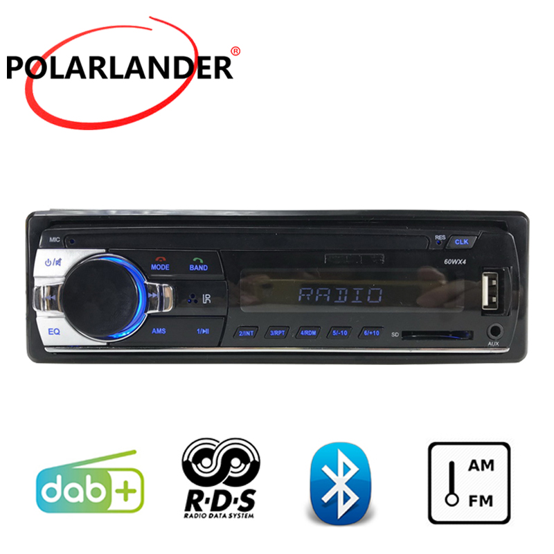 RDS Bluetooth 2018 Newest Car Stereo Car Audio MP3 Player Car Radio DAB+ LCD Dispaly 1 DIN USB And SD Card Slot FM AM AUX