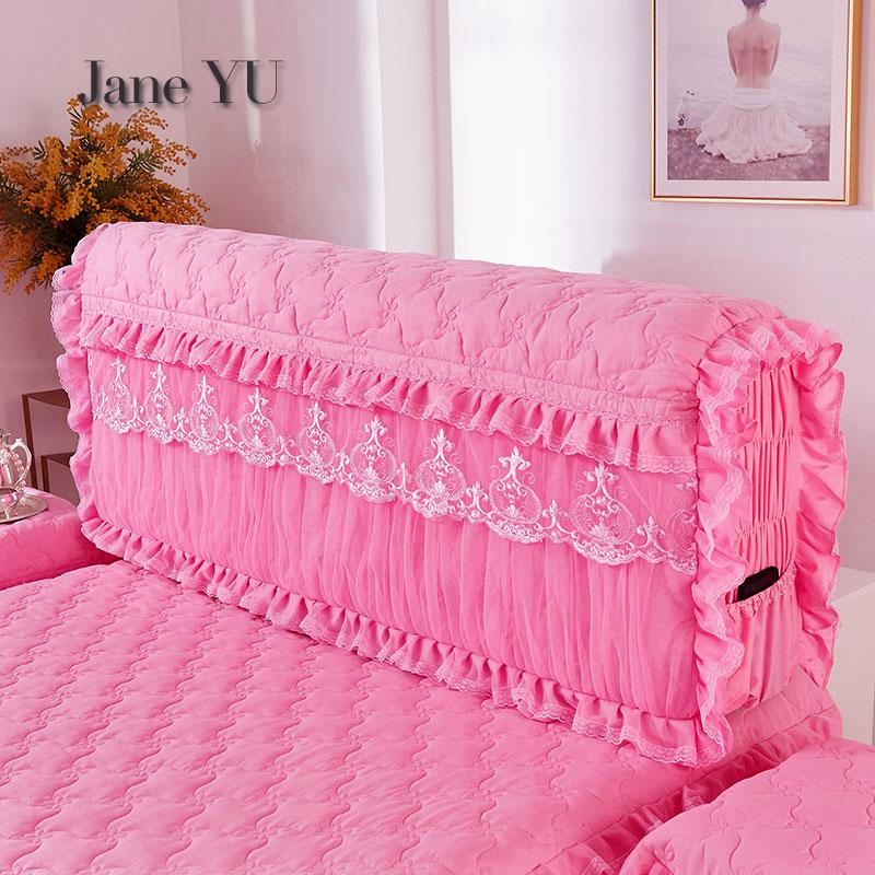 JaneYU Thickened Princess Full Soft Bedside Cover Simple Bedside Dust proof Cushion Protective Cover in Bedspread from Home Garden