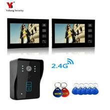 Yobang Security Freeship 7Video Door Phone Bell Wireless Intercom with RFID keyfobs Access Control Wireless Video Intercom Phone