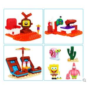 Image 3 - 2020 SpongeBob musique ananas maison Compatible lepining bob léponge amis blocs de construction éducation jouets pour enfants anniversaire