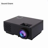 Мини проектор 1000 люмен proyector для игровых ТВ домашнего кинотеатра 3D фильм Поддержка HDMI VGA AV SD USB