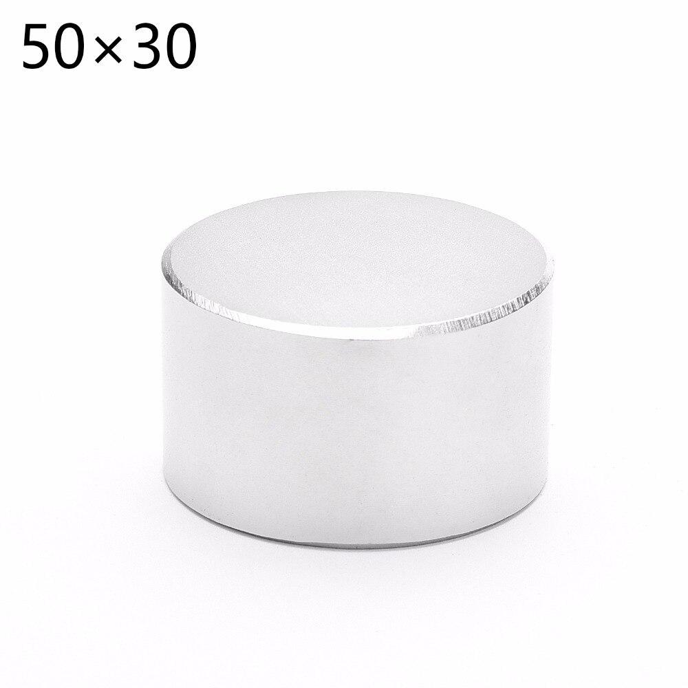 1 piezas N52 de neodimio de diámetro 50mm x 30mm imanes de neodimio de disco de la tierra rara artesanía para modelos de nevera meter 50*30mm 50mm * 30mm
