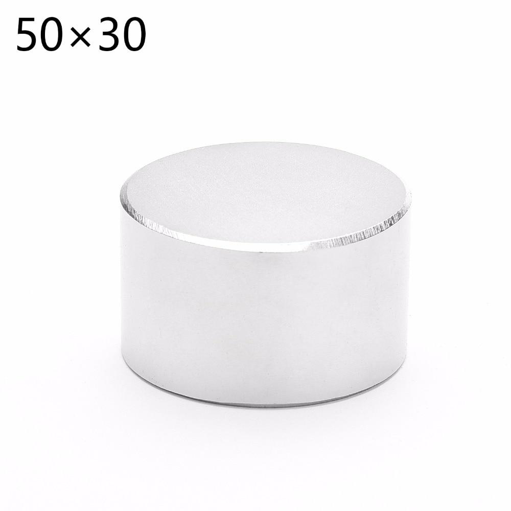 1 piezas N52 neodimio diámetro 50mm x 30mm imanes fuertes disco NdFeB tierra rara para artesanías modelos refrigerador pegue 50*30mm 50mm * 30mm