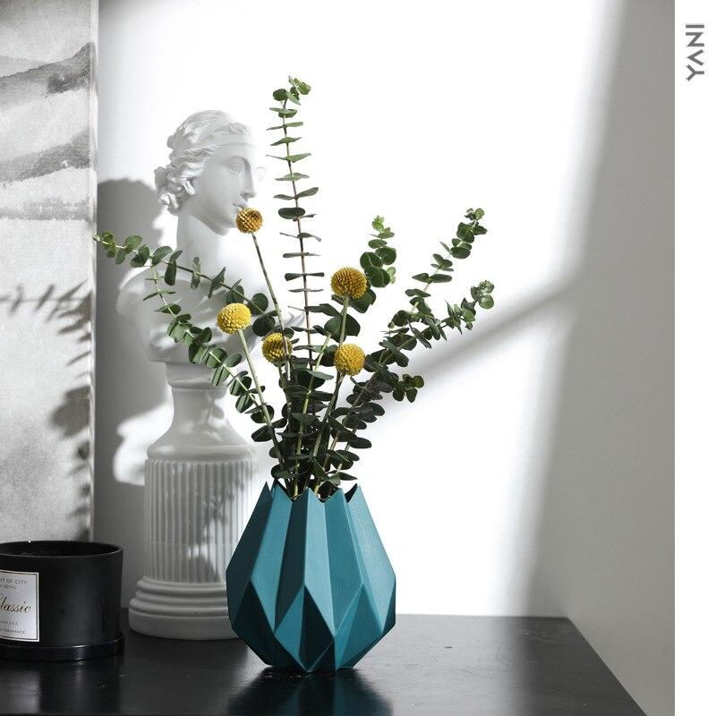 Modern Minimalist Ceramic Origami Vase Mini Vases Flower Pot Vase