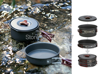 2015 New Fire Maple 1 2 Persons Set Be Cocina Camping Pot Outdoor Cutlery Panelas Camp