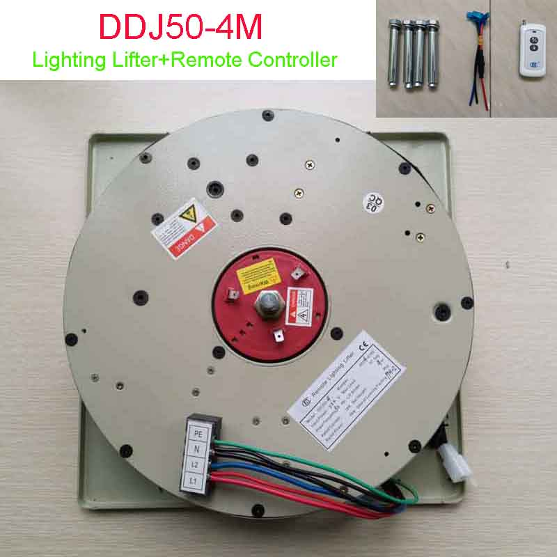 DDJ50-4M Remote Controller Lowering System Chandelier Scolling System Crystal Light Lift Chandelier Hoist,110-120V,220-240V
