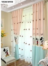 Kid Curtains Cartoon Mickey Mouse Pattern Tulle Curtains Custom Childrenu0027s  Curtain For Window Living Room(