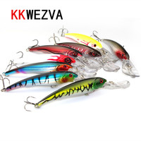 Kkwezva ألعاب 29 جرام 16.5 سنتيمتر 8 أجزاء جيدة حزمة كبيرة أسماك الطعم الاصطناعي البلاستيك الصيد الطعم الثابت الصعبة