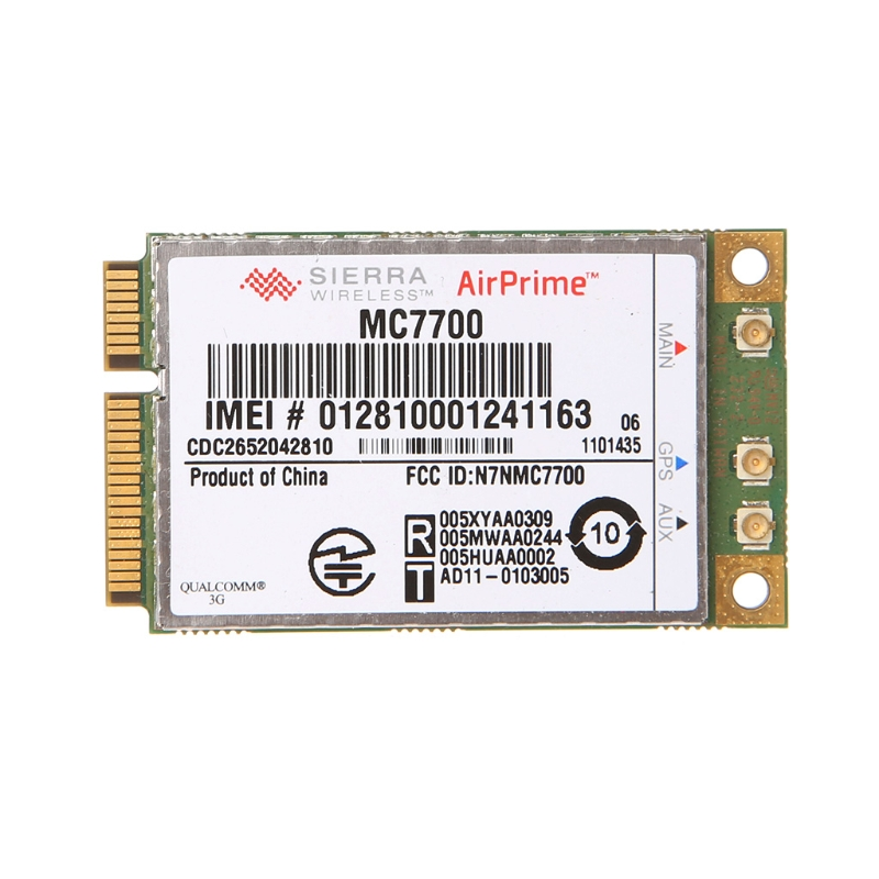 MC7700 Mini PCI-e 3G HSPA LTE 100MBP Unlocked Wireless WWAN WLAN Card Module new unlocked sierra mc8780 wireless 3g wwan 7 2mbps hsupa hsdpa umts gprs gps edge module mini pci e card for dell acer asus