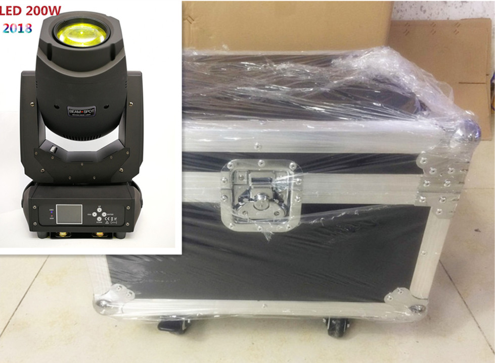 2 unids/lote con Flight Case LED 200W 230W Beam Cleaning 3in1 Pattern Mobile Head Super Bright Concert DJ Show Disco Light