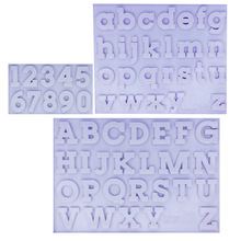 M1158 Letters Alphabet Silicone Mould Fondant Cake Decorating Værktøj nummer Gumpaste Chocolate Fimo Clay Candy Forme