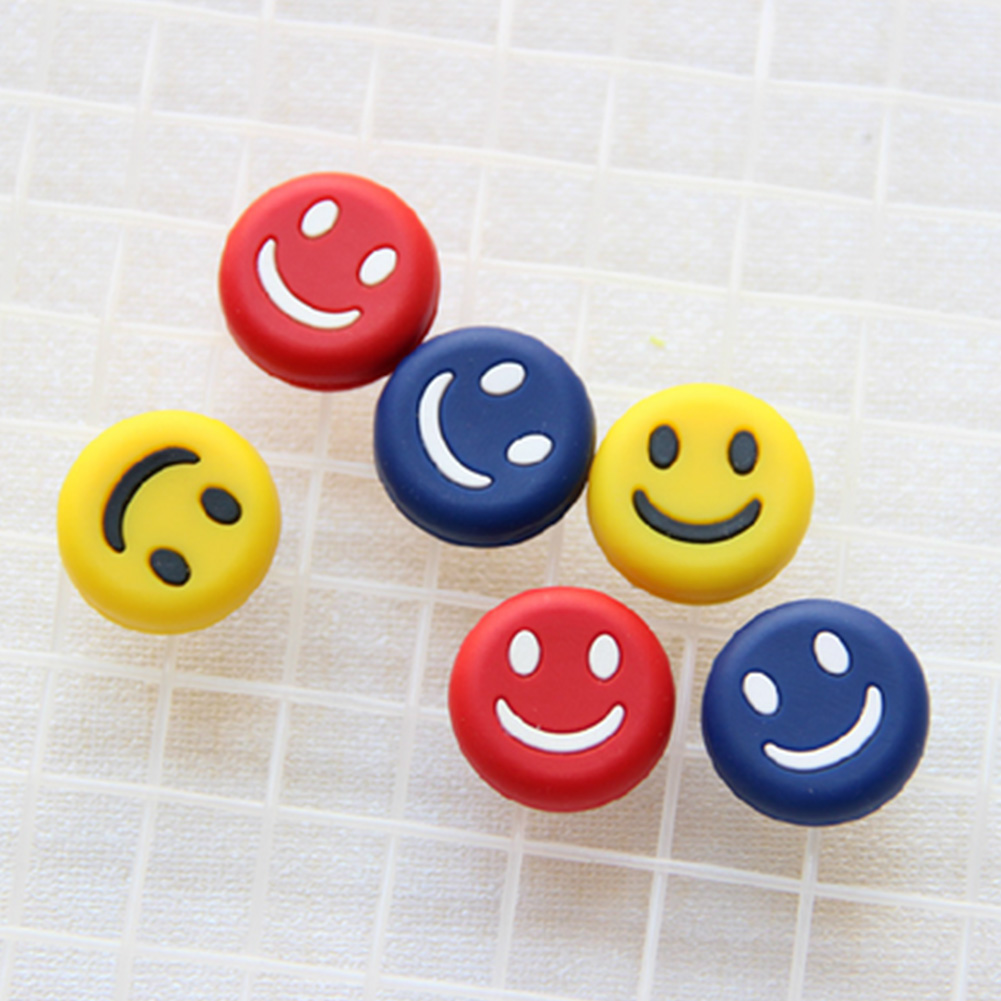 5 Pcs Anti-skid Silica Gel Cute Staff Bracelet Shock Absorber Vibration Dampers Cartoon Soft Expression Tennis Racket Damper