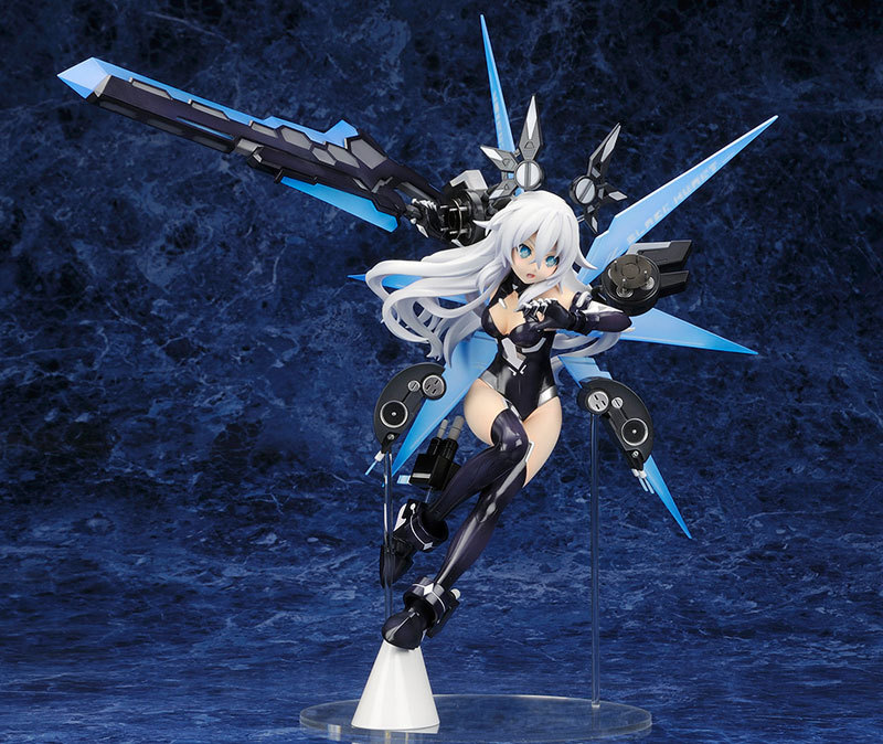 ФОТО 1pcs 1/7 scale painted Black Heart Noir action game pvc figure toy tall 31cm for collection.