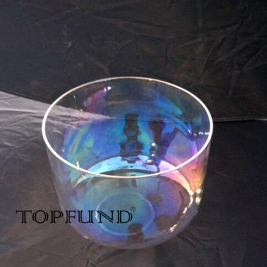 TOPFUND luz cósmica Chakra cristal de cuarzo cuenco 10
