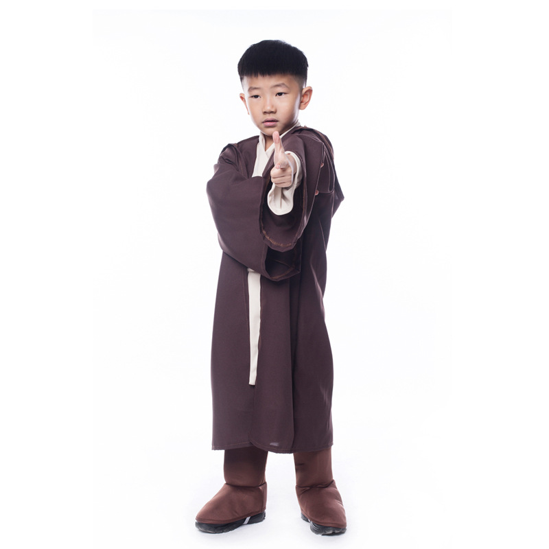 Star Wars Deluxe Jedi/Sith Knight Cloak Cosplay Jedi Warrior Movie Hooded Robe Cloak Cape Halloween Cosplay Costume