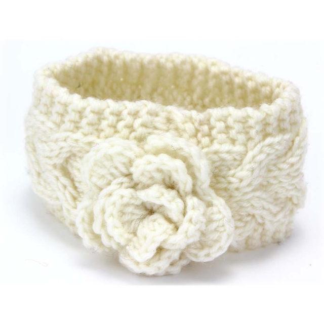 Tienda Online Diadema de lana tejida hecha a mano de Otoño Invierno ...