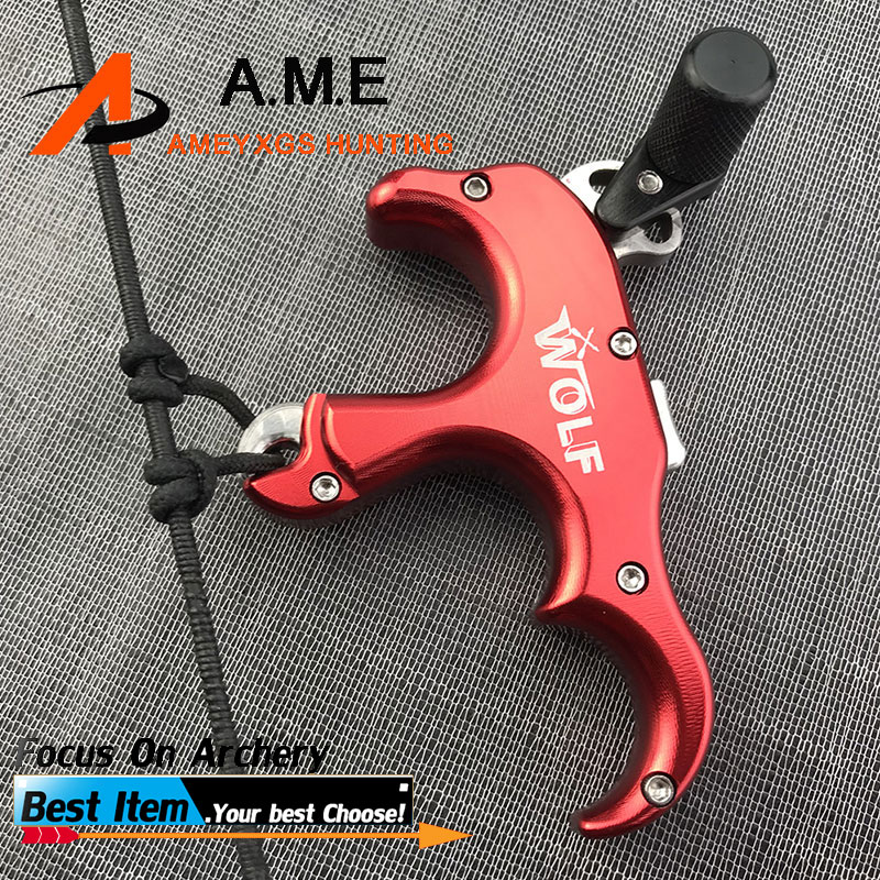 4 Color Automatic Trigger Release for Compound Bow Stainless Steel 1pc 3 Fingers Archery Outdoor Shooting