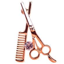 Comb Scissors Brooch