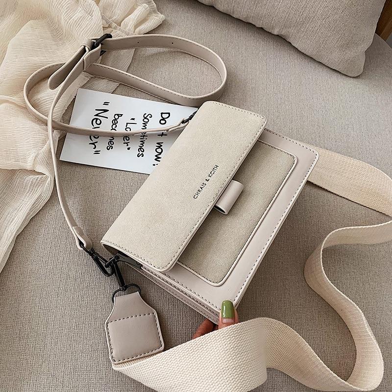 Small Bag Women 2019 New Korean Version Of Small Square Bag Wide Shoulder Strap Fashion Joker Shoulder Messenger Bag
