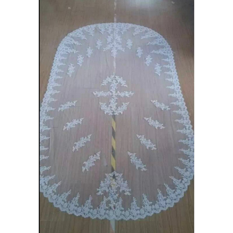 14-$120-Wedding Accessories Long Veils 2 Meters long Lace Edge Bridal Veil Wedding Veils Veu De Noiva